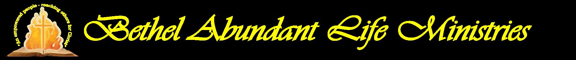 Bethel Abundant Life Ministries Logo